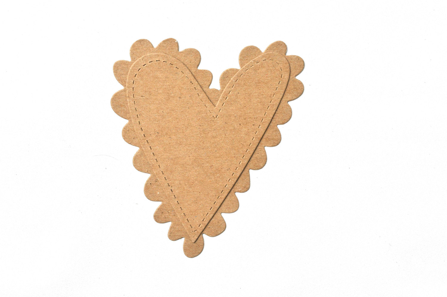 Chipboard Shapes Ideas ~ Scalloped valentines heart chipboard die cut shapes